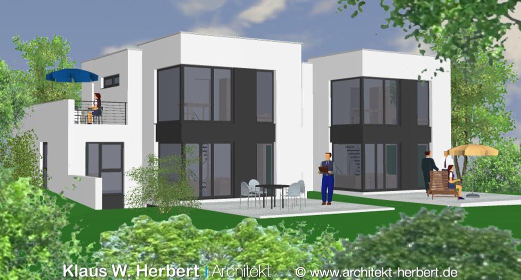 klaus w herbert architekt aschaffenburg bauhaus und doppelhaus. Black Bedroom Furniture Sets. Home Design Ideas