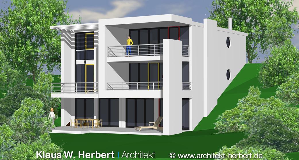 Klaus w herbert architekt aschaffenburg bauhaus doppelhaus for Bauhaus aschaffenburg